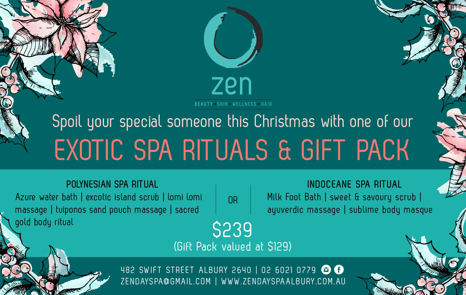 Zen Day Spa - Christmas Gift pack 2017