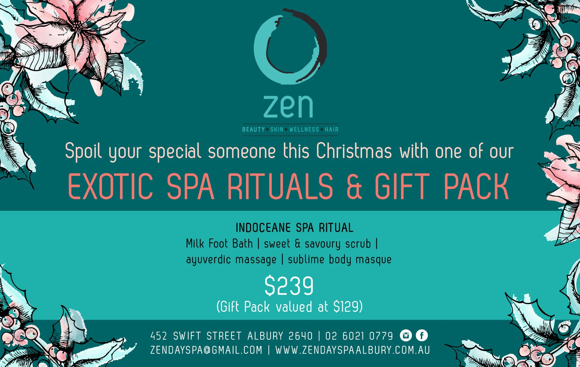 Zen Day Spa - Christmas Gift pack